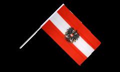 Stockflagge Österreich mit Adler - 60 x 90 cm