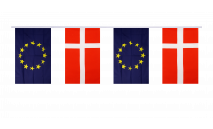 Freundschaftskette Dänemark - Europäische Union EU - 15 x 22 cm