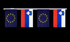 Freundschaftskette Slowenien - Europäische Union EU - 15 x 22 cm