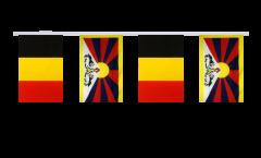 Freundschaftskette Belgien - Tibet - 15 x 22 cm