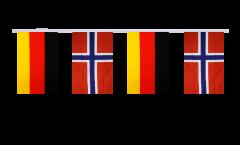 Freundschaftskette Deutschland - Norwegen - 15 x 22 cm