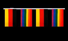 Freundschaftskette Deutschland - Regenbogen - 15 x 22 cm