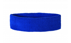 Stirnband Einfarbig Blau - 6 x 21 cm