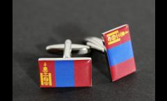 Manschettenknöpfe Flagge Mongolei - 18 x 12 mm