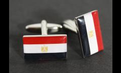 Manschettenknöpfe Flagge Ägypten - 18 x 12 mm
