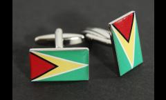 Manschettenknöpfe Flagge Guyana - 18 x 12 mm