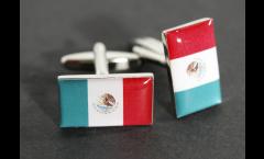 Manschettenknöpfe Flagge Mexiko - 18 x 12 mm