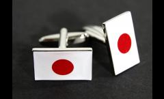Manschettenknöpfe Flagge Japan - 18 x 12 mm