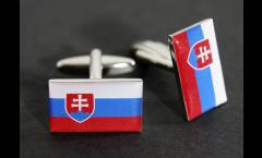 Manschettenknöpfe Flagge Slowakei - 18 x 12 mm