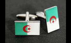 Manschettenknöpfe Flagge Algerien - 18 x 12 mm