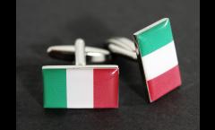 Manschettenknöpfe Flagge Italien - 18 x 12 mm
