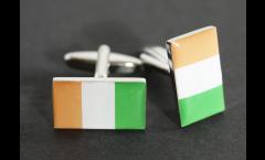 Manschettenknöpfe Flagge Elfenbeinküste - 18 x 12 mm