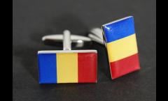 Manschettenknöpfe Flagge Tschad - 18 x 12 mm