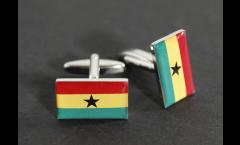 Manschettenknöpfe Flagge Ghana - 18 x 12 mm
