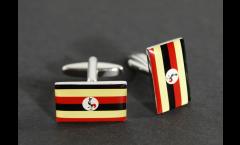 Manschettenknöpfe Flagge Uganda - 18 x 12 mm