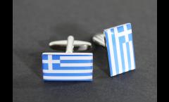 Manschettenknöpfe Flagge Griechenland - 18 x 12 mm