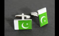 Manschettenknöpfe Flagge Pakistan - 18 x 12 mm
