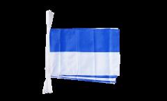 Fahnenkette Blau-Weiß - 30 x 45 cm