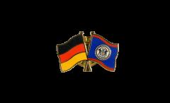 Freundschaftspin Deutschland - Belize - 22 mm