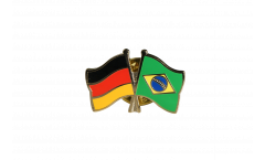 Freundschaftspin Deutschland - Brasilien - 22 mm