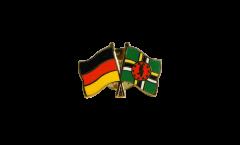 Freundschaftspin Deutschland - Dominica - 22 mm