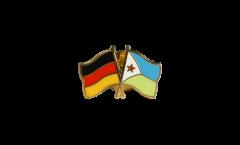 Freundschaftspin Deutschland - Dschibuti - 22 mm
