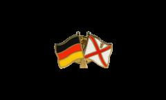 Freundschaftspin Deutschland - Großbritannien Jersey - 22 mm