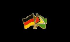 Freundschaftspin Deutschland - Guyana - 22 mm