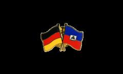 Freundschaftspin Deutschland - Haiti - 22 mm