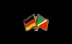 Freundschaftspin Deutschland - Republik Kongo - 22 mm