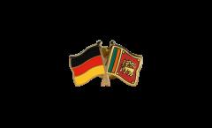 Freundschaftspin Deutschland - Sri Lanka - 22 mm