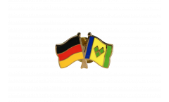 Freundschaftspin Deutschland - St. Vincent und die Grenadinen - 22 mm