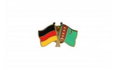 Freundschaftspin Deutschland - Turkmenistan - 22 mm