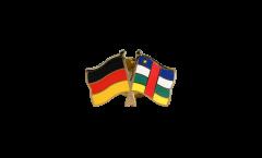 Freundschaftspin Deutschland - Zentralafrikanische Republik - 22 mm