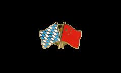 Freundschaftspin Bayern - China - 22 mm