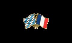 Freundschaftspin Bayern - Frankreich - 22 mm