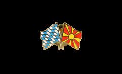 Freundschaftspin Bayern - Nordmazedonien - 22 mm