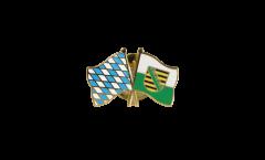 Freundschaftspin Bayern - Sachsen - 22 mm