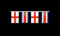 Freundschaftskette England - Costa Rica - 15 x 22 cm