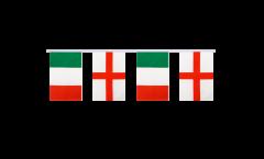 Freundschaftskette Italien - England - 15 x 22 cm