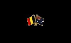 Freundschaftspin Belgien - Australien - 22 mm