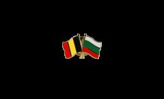 Freundschaftspin Belgien - Bulgarien - 22 mm