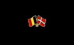 Freundschaftspin Belgien - Dänemark - 22 mm
