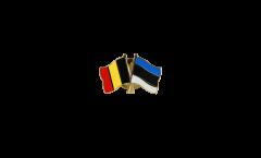 Freundschaftspin Belgien - Estland - 22 mm