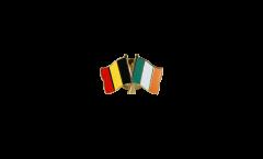 Freundschaftspin Belgien - Irland - 22 mm