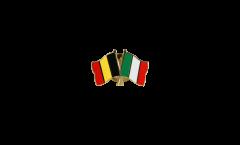 Freundschaftspin Belgien - Italien - 22 mm