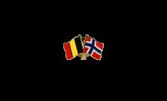 Freundschaftspin Belgien - Norwegen - 22 mm