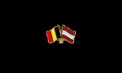 Freundschaftspin Belgien - Österreich - 22 mm