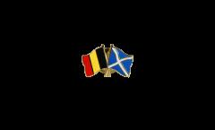 Freundschaftspin Belgien - Schottland - 22 mm