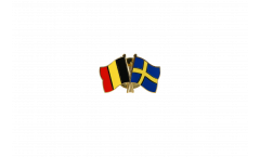 Freundschaftspin Belgien - Schweden - 22 mm